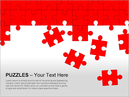 Puzzles Wall PPT Diagrams & Chart - Slide 3