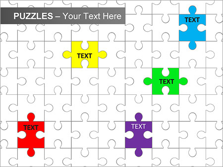 Puzzles Wall PPT Diagrams & Chart - Slide 6