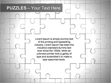 Puzzles Wall PPT Diagrams & Chart - Slide 7