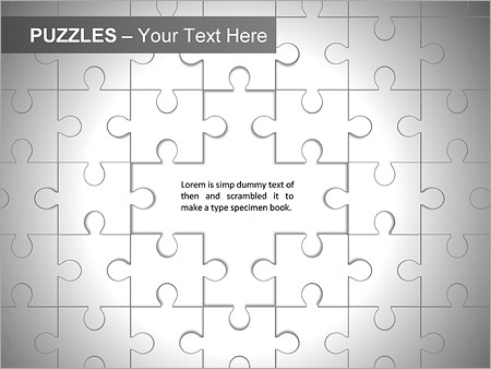 Puzzles Wall PPT Diagrams & Chart - Slide 8