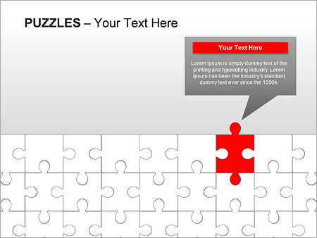 Puzzles Wall PPT Diagrams & Chart - Slide 9