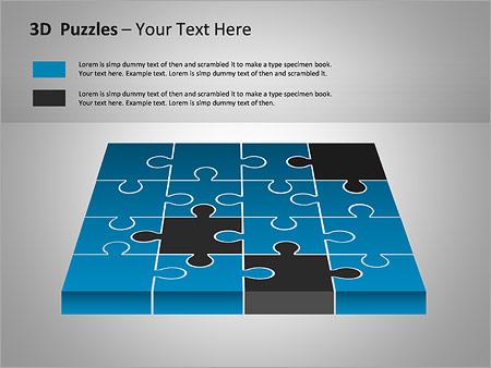 3D-Puzzles Gráficos y diagramas para PowerPoint - Diapositiva 9
