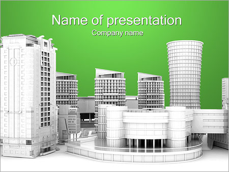 City Houses PowerPoint Template