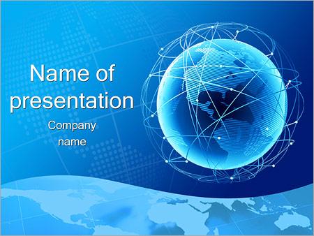 ウェブでのグローブ PowerPointプレゼンテーションのテンプレート