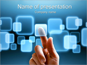 Touch Screen Interface PowerPoint Template