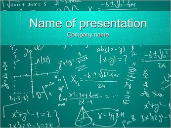 Mathematics Powerpoint Template Smiletemplates Com