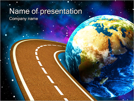 Space Travels Concept PowerPoint Template