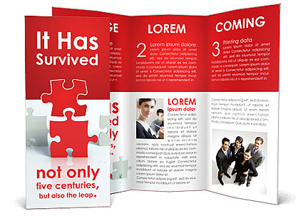 Puzzle Connect Brochure Template