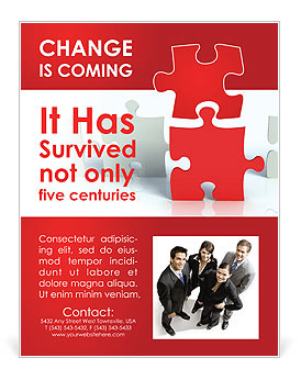 Puzzle Connect Flyer Template
