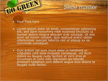 グリーンコンセプトに行く PowerPointプレゼンテーションのテンプレート