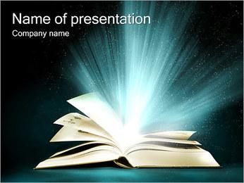 マジックブック PowerPointプレゼンテーションのテンプレート