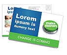 Make Money Button Postcard Template