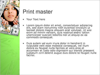 Face in Money PowerPoint Template