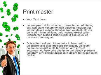 効率的な経済 PowerPointプレゼンテーションのテンプレート