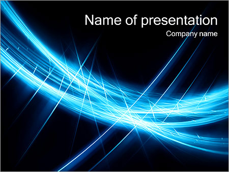 Abstract Dark Blue Powerpoint Template Infographics Slides