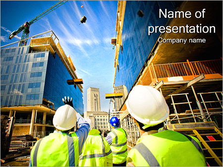 Construction Project Powerpoint Template Infographics Slides