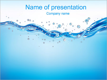 Abstract Water Powerpoint Template Infographics Slides
