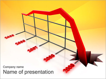 Profit Fall Down PowerPoint Template