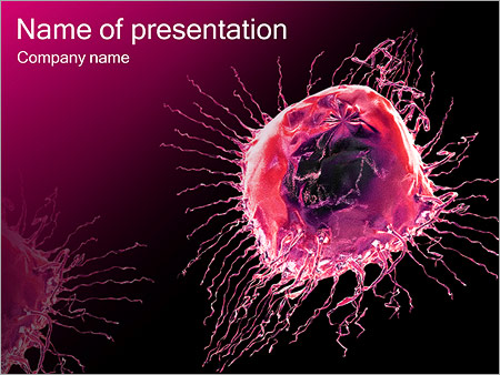 Roze abstract object Sjablonen PowerPoint presentatie