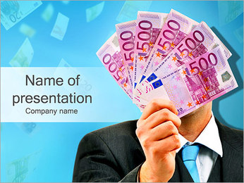 Man With Euros PowerPoint Template