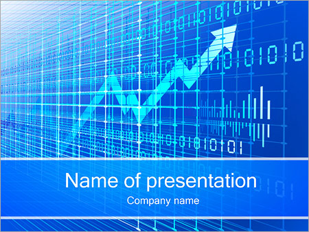 Abstract Arrow Graph PowerPoint Template