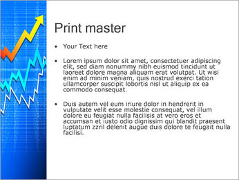 Abstraction Arrow Sign PowerPoint Template