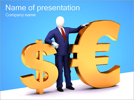 Euro And Dollar PowerPoint Template