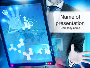 High Tech Touch Screen PowerPoint Template