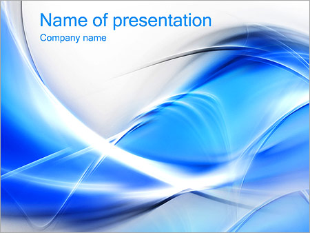 Wonderful Blue Abstract Image PowerPoint Template