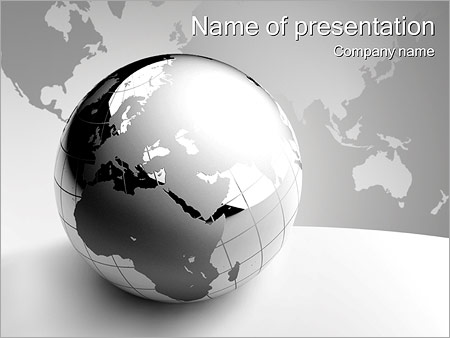 Abstract Grey Earth PowerPoint Template
