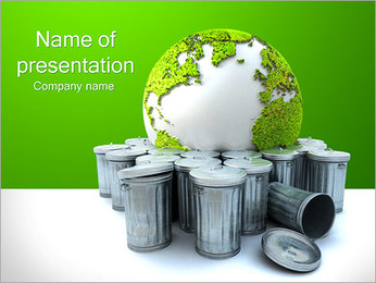 Groen Recycling Sjablonen PowerPoint presentatie