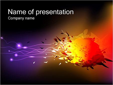 爆発 PowerPointプレゼンテーションのテンプレート