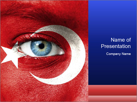 Turkey Flag Body Art Powerpoint Template Backgrounds Google