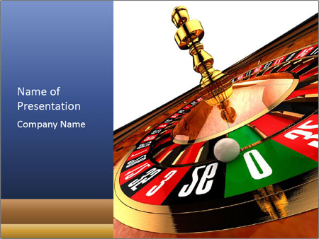 Having Fun in Casino PowerPoint Template