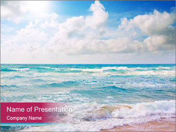 Sea Oil Painting PowerPoint Template