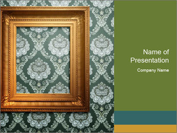 Vintage Room Design PowerPoint Template