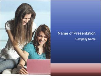 Best Friends Chatting Online PowerPoint Template