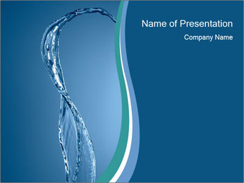 Water Line PowerPoint Template
