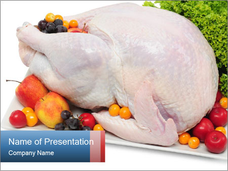 Turkey Stuffed With Fruits Powerpoint Template Backgrounds Google