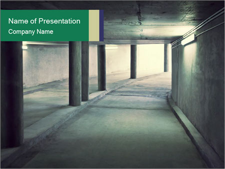 Empty Tunnel PowerPoint Template