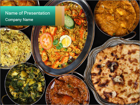 Indian Cuisine PowerPoint Template & Infographics Slides