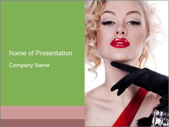 Woman Dressed Like Marilyn Monroe PowerPoint Template