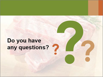 Cutted Pork Ribs and Raw Vegetables PowerPoint Template
