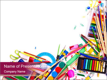 Basic School Stationery PowerPoint Template