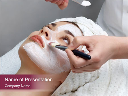 Wellbeing Facial Mask PowerPoint Template