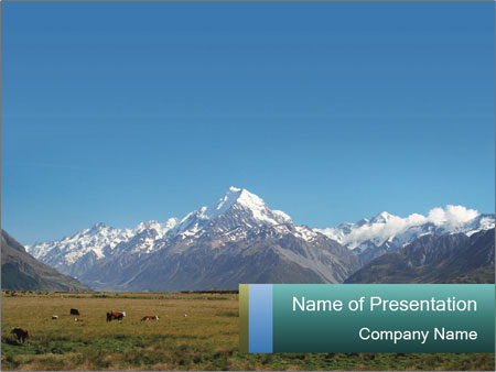 Mountains In New Zealand Powerpoint Template Infographics Slides