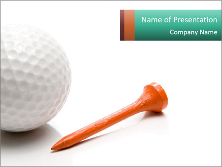 White Ball for Golf Game PowerPoint sunum şablonları