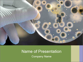 Microbiology - PowerPoint Template - SmileTemplates com