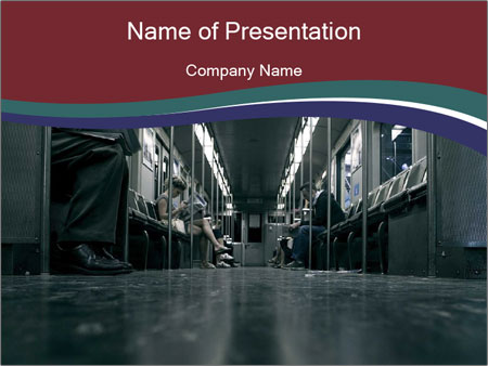 Floor in Subway Train PowerPoint Template