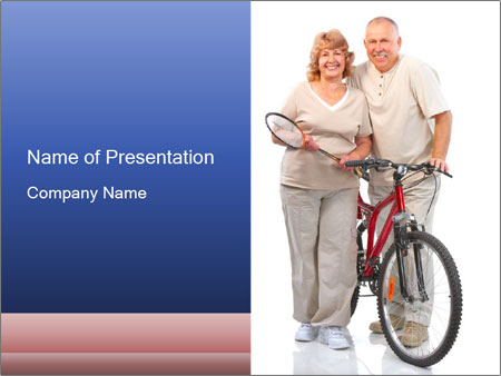 Active Pensioners PowerPoint Template